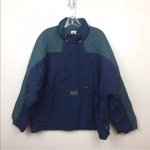 Nike VTG Navy Windbreaker Coat Half Button Jacket